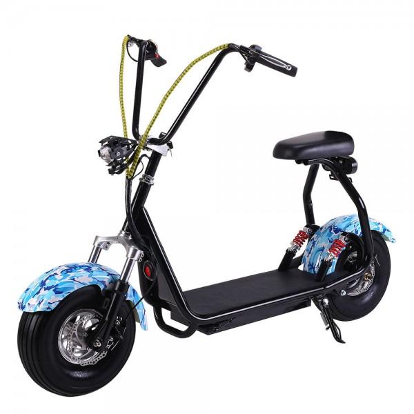 Электросамокат EL-Sport Mini Citycoco 800W Blue фото